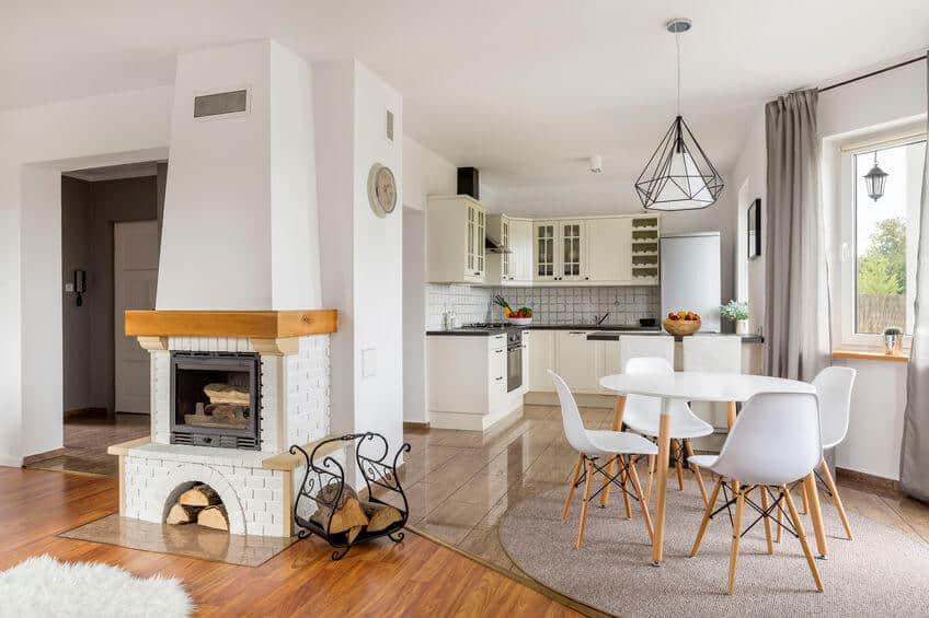 Amerikai konyhás nappalik L-alakú konyhával