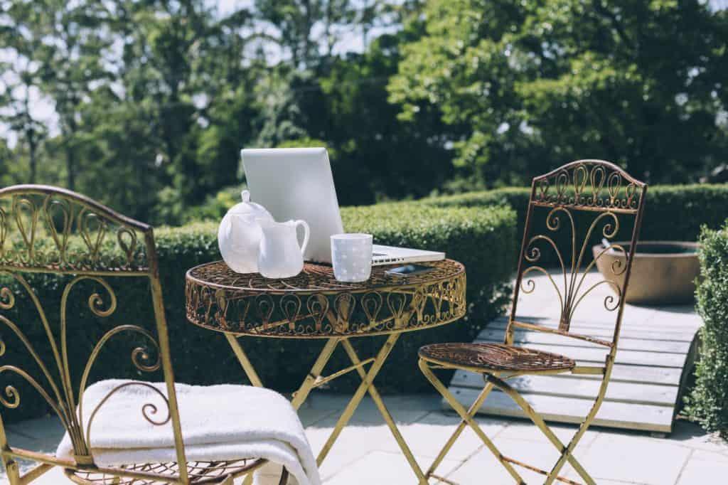 fém kerti bútor