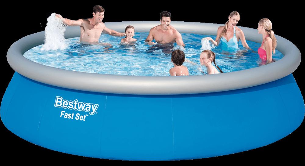 Bestway Fast Set felfújható peremű medence
