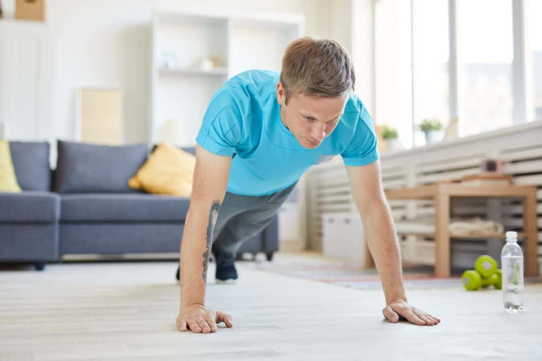 Push-ups at home