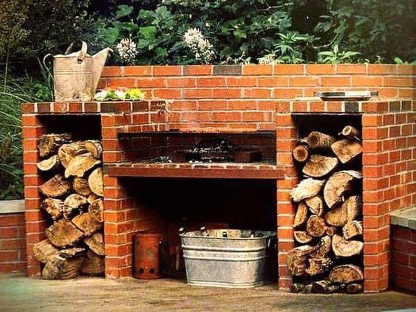 Kerti grill építés