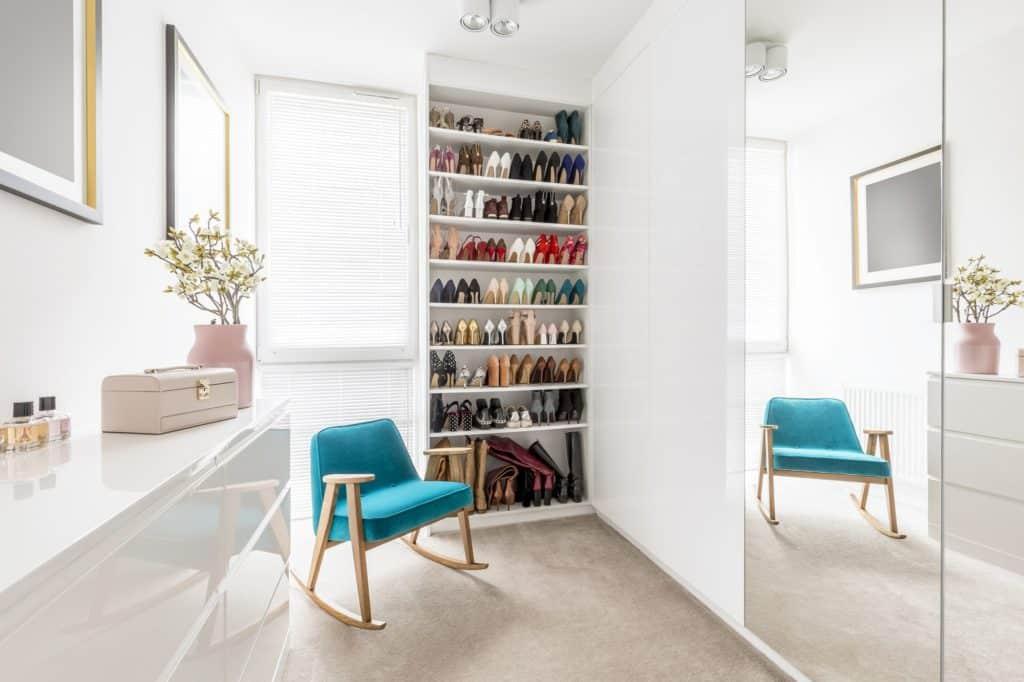Dreamy wardrobe with shoe closet