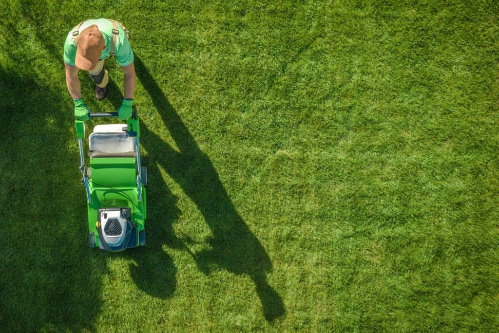 Lawn Moving Aerial Photo