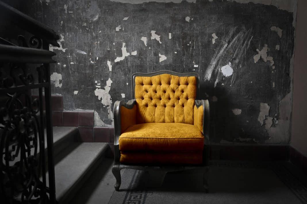 Yellow armchair